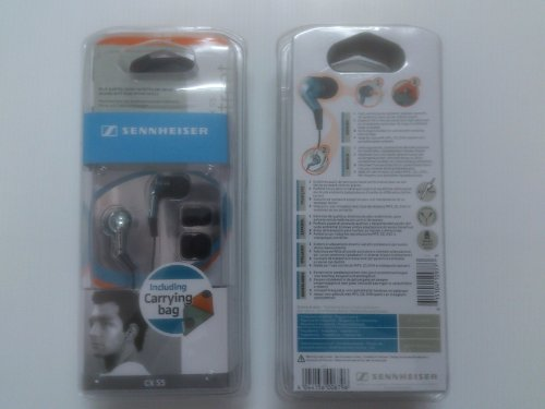 Sennheiser Cx 55 Headphones Blue Colors