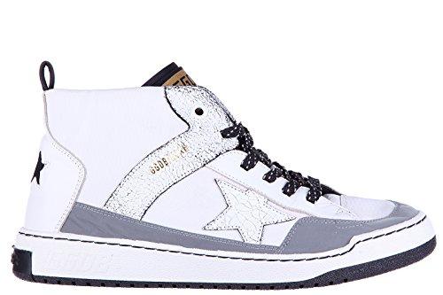 Golden-Goose-zapatos-zapatillas-de-deporte-largas-hombres-en-piel-nuevo-noah-blanco