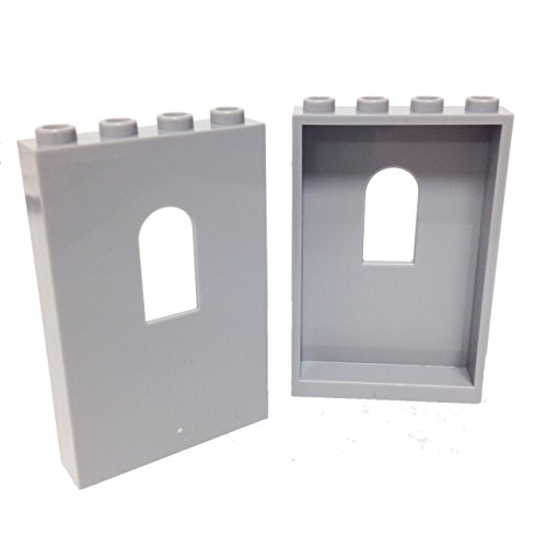 Lego Parts: Panel 1 x 4 x 5 with Window (PACK of 2 - LBGray)