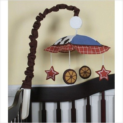 Geenny Musical Mobile For Boutique Horse Cowboy 13 Pcs Crib Bedding Set