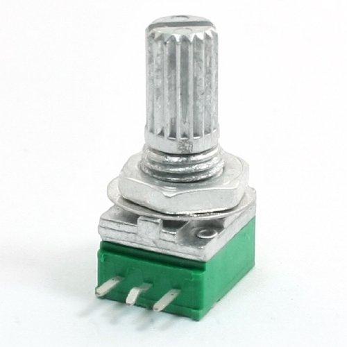 B50K 50 k ohm 6 mm Shaft, Linear Potentiometer Rändelmutter Töpfe grün