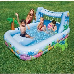 Intex waterfall shade play center sports for Waterfall swing set