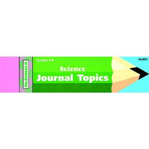 Mcdonald Publishing Mc-j802 Journal Booklet Science Gr 4-8