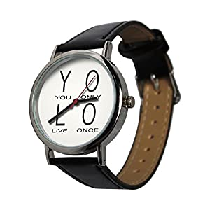YOLO design wristwatch. You Only Live Once