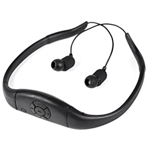 Tayogo 2014 Upgraded Waterproof Mp3 Player Headset Music Player, 8gb Memory Hi-fi Stero, Earphone for Swimming, Surfing, Running, Sports, Award-winning Design,comfortable Fashionable Rechargeable Longer Battery Time,Black