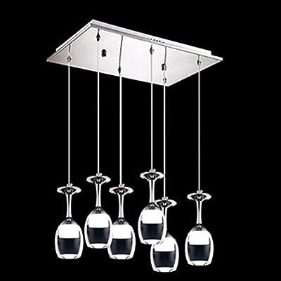 Modern Aluminum Pendant Lamps Fashion Wine Cup Classic Design Restaurant Pendant Light LED Dining Bedroom Living Room Lamp