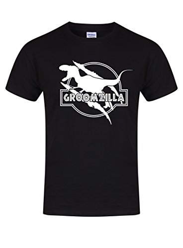 Groomzilla – Unisex Fit T-Shirt – Fun Slogan Tee (X Large – Chest 46-48 inches, Black/White)