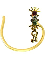 Antique Nose Pin Antique Gold Plated Silver Pin For Women