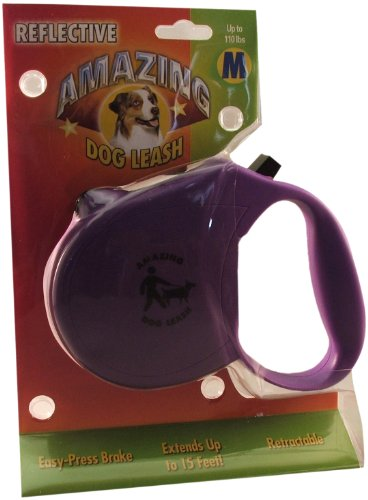 Amazing Retrable Leash for Dogs/Cats up to 44-Pound, Purple