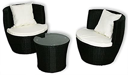KMH®, 3-teilige Gartensitzgruppe (inklusive Sesselauflage und Kissen) (#106057)