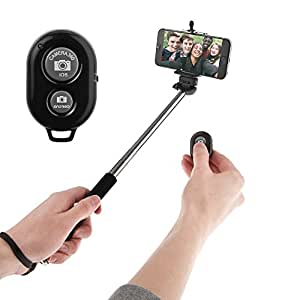 Go Crazzy Monopod Extendable Selfie Handheld Stick With Adjustable Phone Holder And Bluetooth Wireless Remote Shutter For Micromax Canvas XL2 A109