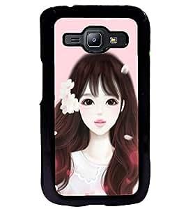 Printvisa Girl Dressed Like Cindrella Back Case Cover for Samsung Galaxy J1::Samsung Galaxy J1 J100F
