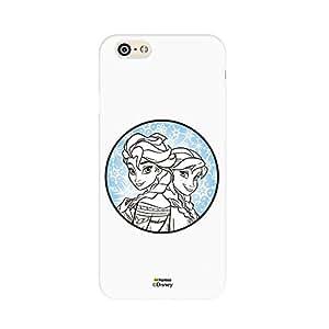 Hamee Disney Princess Frozen Official Licensed Designer Cover Hard Back Case for iPhone 6 / 6s (Elsa Anna / Circle)