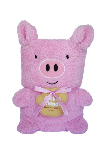 Towel Treat Plush Blanket, Pig - 1