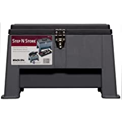 Stack-On SS-20 Step 'N Stor Step Stool, Black