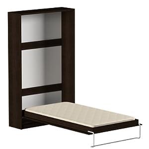 schrankklappbett burg 140x200 cm holzfarbe wenge k che haushalt. Black Bedroom Furniture Sets. Home Design Ideas