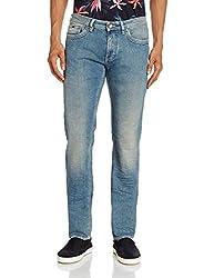 Gas Men's Albert Rs.A Slim Fit Jeans (8056775103677_69166WN61_30W x 34L_Blue)