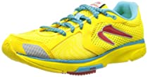 Newton Distance III Womens, Yellow/Red, 6 M US