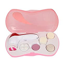 Orpio 6 IN 1 Face Facial & Cleansing Cleanser Massager Kit (Pink)