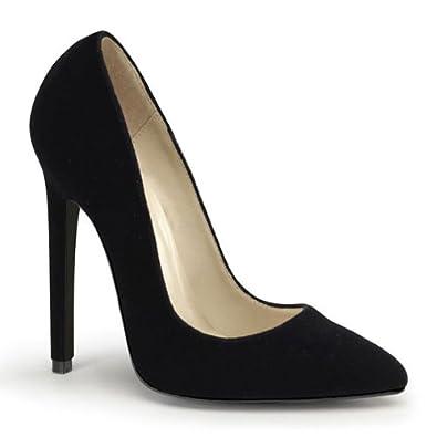High-Heels-High-Heels-Pumps: Pumps Samt schwarz