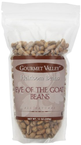 Gourmet Valley Heirloom Beans Es Eye Of The Goat, 12-Ounce Pouch (Pack of 6)