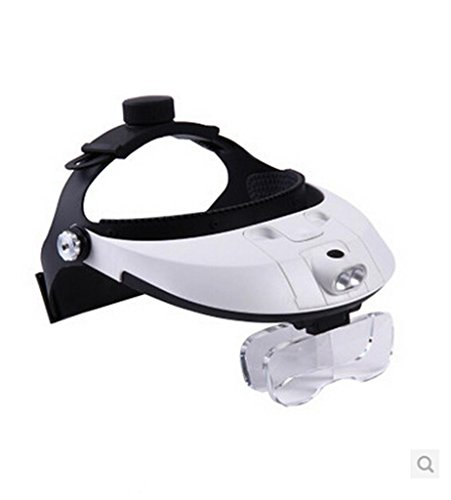 Head-Mounted Magnifying Glass To Read The Elderly Surgical Repair 1-6X Magnifier With Light Stitch Hd