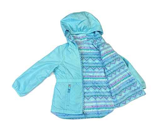 london-fog-girls-waterproof-breathable-shell-fabric-reversible-rain-jacket-ice-blue-age-6x