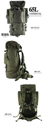 ZLZLND - New-New-New Z Adventurer Internal Frame Backpack (65L, Black, Khaki, CP, French Camouflage, OD Green) -086