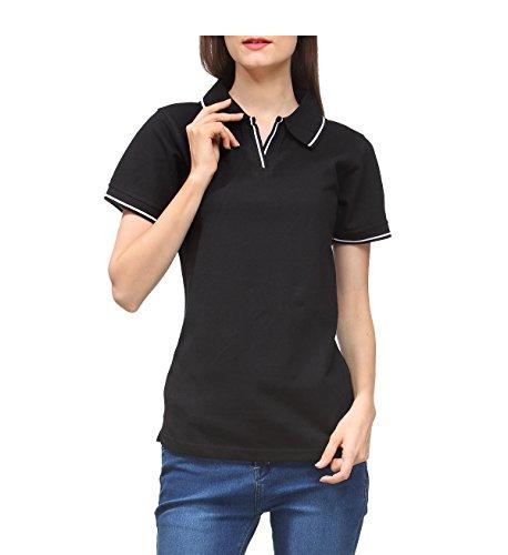 Scott-Womens-Premium-Cotton-Polo-T-shirt-Black