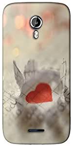 Snoogg paper heart Designer Protective Back Case Cover For Micromax A117