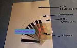PVC ID Card Making Kit - Inkjet Printer - Qty (8) - No Laminator Needed