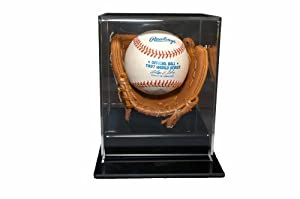Mini Glove Baseball Holder & Display Case by Caseworks