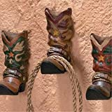 41xctn3zh5L. SL160  3 Cowboy Western Boots Hook Rack Home Wall Decor