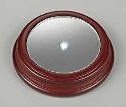 Pack of 3 LED Lighted Round Mirror Christmas Display Bases 4.75""