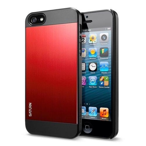 国内正規品SPIGEN SGP iPhone5/5S ケース サターン [メタル レッド] SGP10143