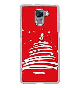 Christmas Tree 2D Hard Polycarbonate Designer Back Case Cover for Huawei Honor 7 :: Huawei Honor 7 Enhanced Edition :: Huawei Honor 7 Dual SIM