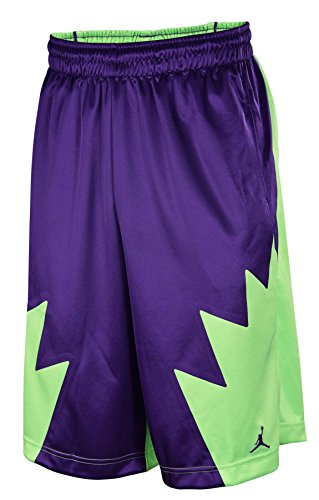 Images for Nike Men's Air Jordan V (5) Retro Basketball shorts Purple/Lime 404386-547 (SIZE: L)