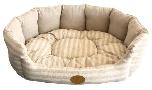 Best Pet Supplies - Lotus Bed for Pet, Tan Stripes, XL