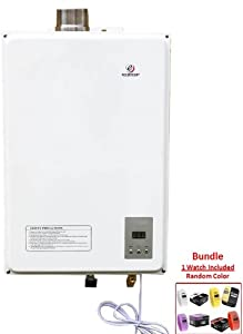 Eccotemp 40HI-LP Whole House Tankless Gas Water Heater Indoor (Liquid Propane) 135,000 BTU. 110V. 6.3 GPM. & BREO Skin Watch