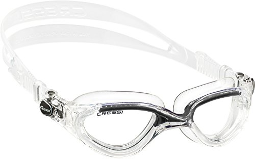 cressi-adult-flash-swimming-goggles-clear-black-clear-lens