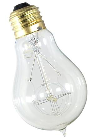 Genuine FerroWatt F1920-4 Quad Loop Filament Lamp 60 Watt Antique Reproduction Light Bulb