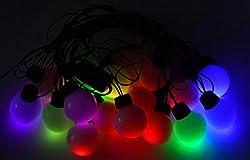 Crystal Bulb Shape Big String LED RGB Light for diwali christmas - 3.5Meter