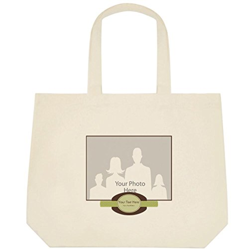 Vistaprint Green Baby Announcement Deluxe Tote Bags front-975024