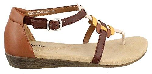 Clarks Women'S Qwin Adonia Gladiator Sandal,Tan,7.5 M Us front-417115