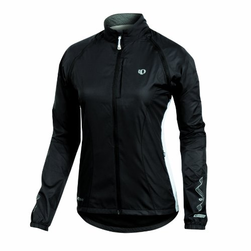 Pearl Izumi Elite Barrier Convertible Women's Cycling Jacket With Zip Off Sleeves - Black/White, Medium