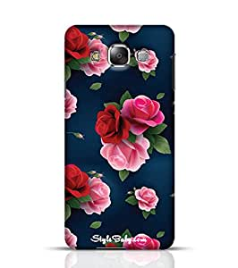 Style baby Rose With Blue Background Samsung Galaxy E7 Phone Case