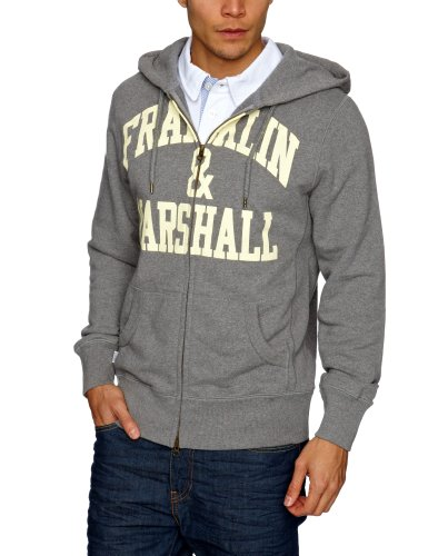 Franklin & Marshall FLMC026S13 Men's Sweatshirt Grey Melange Large