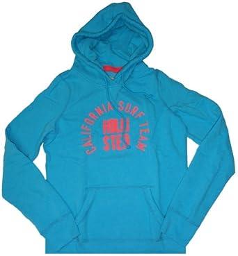 Hollister Women's Hooded Sweat Jacket Hoodie Ponto Beach Turquoise