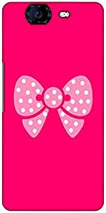 Snoogg Cute Bow Designer Protective Back Case Cover For Micromax Canvas Knight A350