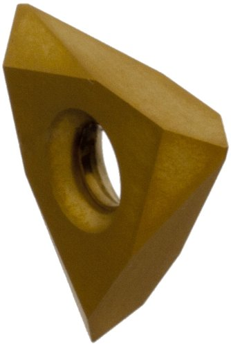 Dorian Tool TNMC PVD-TiN Coated Carbide On Edge Threading and Grooving Insert, General Purpose Chip Breaker for Non-Ferrous Metals, V Thread, 8-36 TPI (Pack of 10)